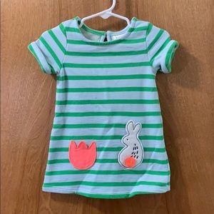 Striped Bunny Dress Size 12 Months